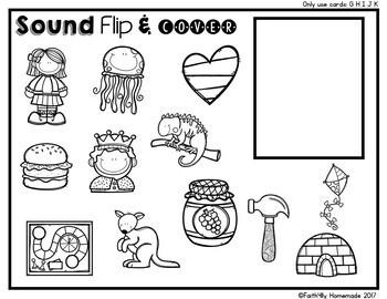 Alphabet Activity Center {Sound Flip & Cover}