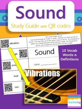 Sound Study Guide with QR Codes