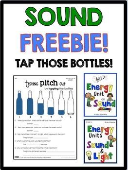 Sound Freebie- Tap Those Bottles! Pitch