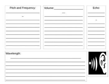 Sound Graphic Organizer