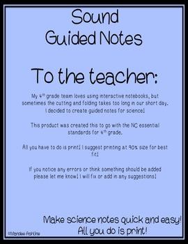 Sound Guided Notes