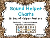 Sound Helper Charts-38 Posters Featuring Consonant Blends, Digraphs, & Trigraphs