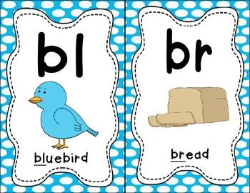 Sound Helper Charts- Consonant Blends, Digraphs, & Trigraphs - Blue Polka Dots