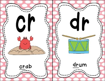 Sound Helper Charts- Consonant Blends, Digraphs, & Trigraphs - Pink Polka Dots