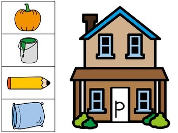 Sound Houses  - A Beginning Sound Sorting Activity