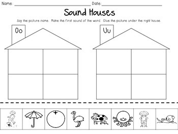Sound Houses - Cut & Paste Beginning Sounds