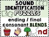 Sound Identification Puzzles: Ending / Final Consonant BLENDS