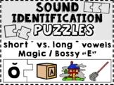 Sound Identification Puzzles: SHORT + LONG VOWELS, Magic E