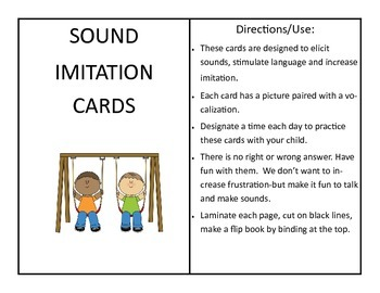 Sound Imitation Cards