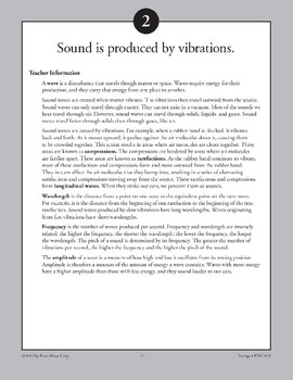 Sound Is Produced by Vibrations