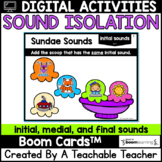 Sound Isolation Boom Cards | Boom Cards for Beginning, Mid