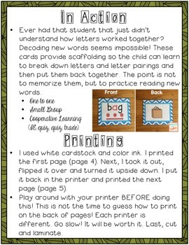 Sound It Out - 1:1, small group & cooperative learning decoding cards