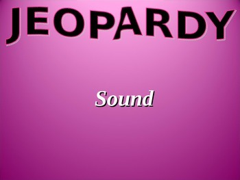 Sound Jeopardy Game Review 4th Grade Common Core