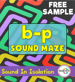 Speech Sounds  Mazes Worksheets: Sound Level Practice [b-p]