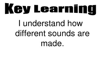Sound Learning Map