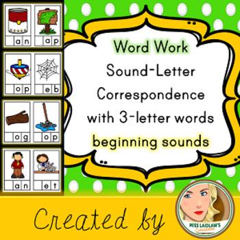 Sound-Letter Correspondence - Beginning Letter - Word Work Center