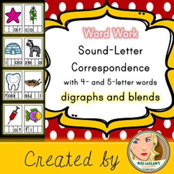 Sound-Letter Correspondence - Digraphs and Blends - Word Work Center