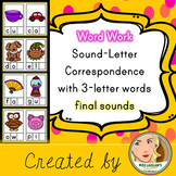 Sound-Letter Correspondence - Final Letter - Word Work Center