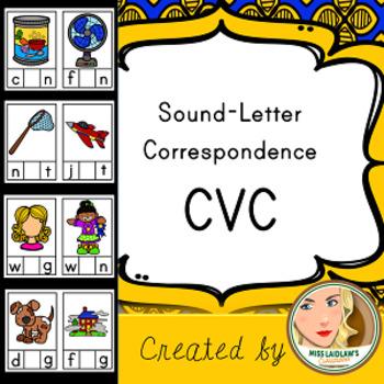 Short Vowel Sound-Letter Correspondence - CVC - Word Work (96 cards!)