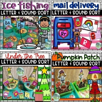 Letter & Beginning Sound Sort SLOW Growing Bundle