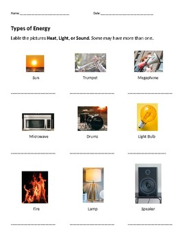 Sound, Light, and Heat Energy