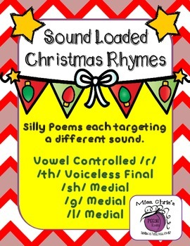 Sound Loaded CHRISTMAS Rhymes/Poems Silly SPEECH Therapy Fun for the Holiday