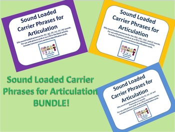 Sound Loaded Carrier Phrases for Articulation BUNDLE