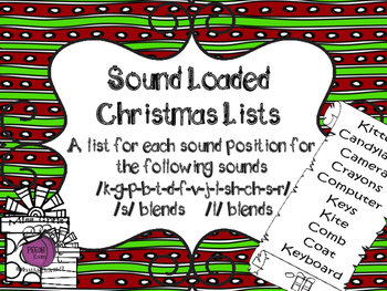 Sound Loaded Christmas Lists for Articulation Practice - MOST SOUNDS