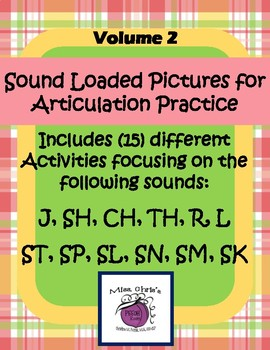 Sound Loaded Pictures Volume 2 ***J, SH, CH, TH, R, L, S-BLENDS***  Therapy FUN!