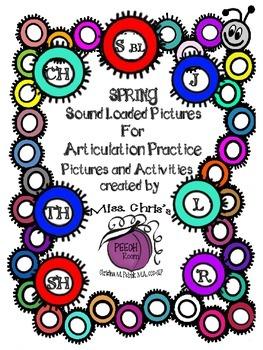 Sound Loaded Pictures for Articulation Practice {sh ch th  j  r  l}