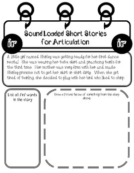 Sound Loaded Short Stories for Articulation {Vowel Controlled ~r~} Bossy R