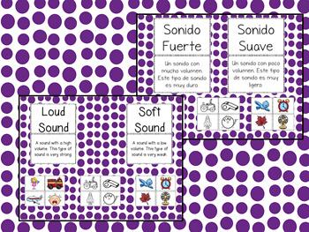 Sound: Loud or Soft - El Sonido: Fuerte y Suave: A Dual Language BUNDLE