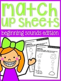 Sound Match Up Practice Sheets {beginning sounds}