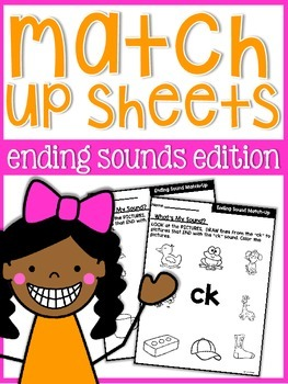 Sound Match Up Practice Sheets {ending sounds}