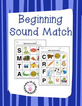 Sound Match (with beginning letters)