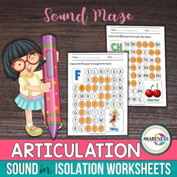 Speech Sounds in Isolation: Sound Level Practice Worksheets