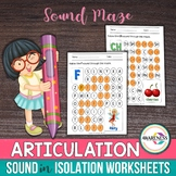 Articulation Sound WorkSheet | Sound in Isolation Maze