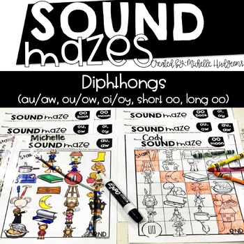 Sound Mazes (Diphthongs) | Phonics | Word Work | Games | Activities | RTI