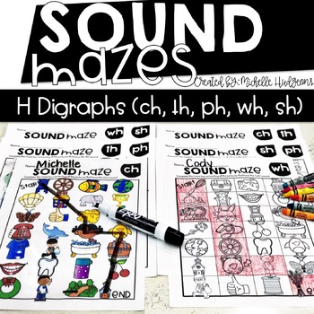 Sound Mazes (H Digraphs) | Phonics | Word Work | Games | Activities | RTI