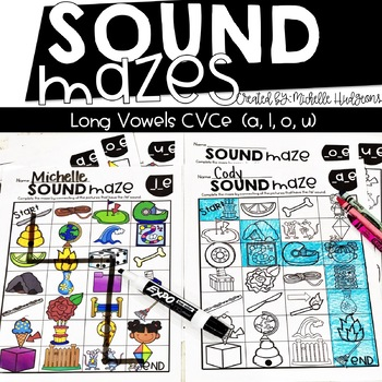 Sound Mazes (Long Vowels CVCe) | Phonics | Word Work | Games | Activities | RTI