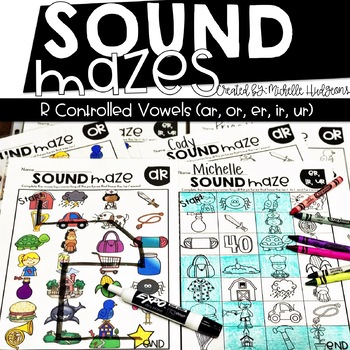 Sound Mazes (R Controlled Vowels) | Phonics | Word Work | Games | Activities | R