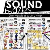 Sound Mazes (Short Vowels) | Phonics | Word Work | Games | Activities | RTI