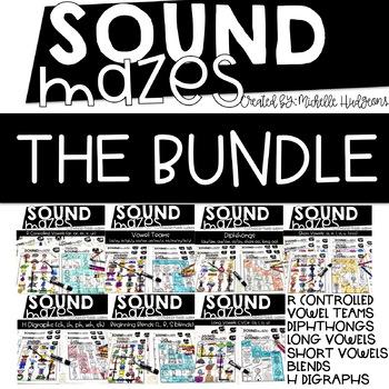 Sound Mazes (THE BUNDLE) | Phonics | Word Work | Games | Activities | RTI