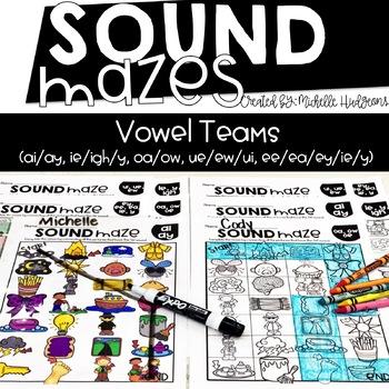 Sound Mazes (Vowel Teams) | Phonics | Word Work | Games | Activities | RTI