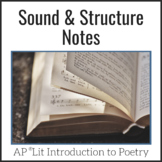 Sound & Musical Elements Notes - AP Lit & Advanced Poetry