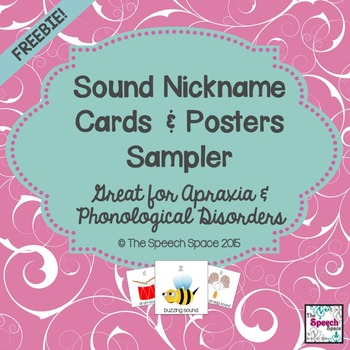 Sound Nickname Cards & Posters - A Sampler Freebie
