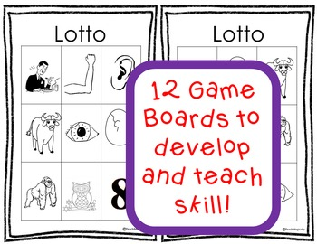 Phonological Awareness Sound Off New Word Lotto