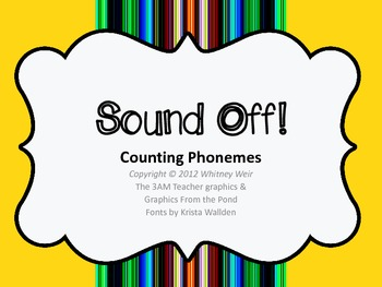 Sound Off Phoneme counting game