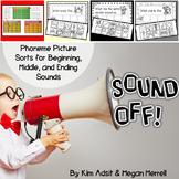 Phonemic Awareness Sound Sorts: Sound Off! by Kim Adsit and Megan Merrell