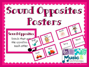 Elements of Music- Sound Opposites Posters
